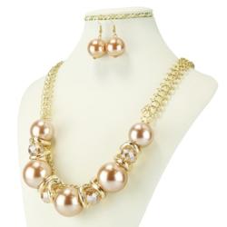 Komplet biżuterii - Naszyjnik i Kolczyki - KOM23