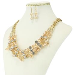 Komplet biżuterii - Naszyjnik i Kolczyki - KOM25