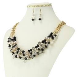 Komplet biżuterii - Naszyjnik i Kolczyki - KOM26
