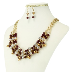 Komplet biżuterii - Naszyjnik i Kolczyki - KOM27