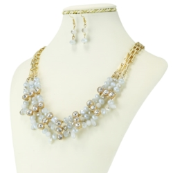 Komplet biżuterii - Naszyjnik i Kolczyki - KOM28