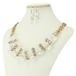 Komplet biżuterii - Naszyjnik i Kolczyki - KOM29