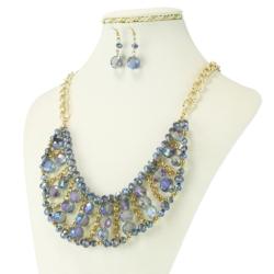 Komplet biżuterii - Naszyjnik i Kolczyki - KOM34