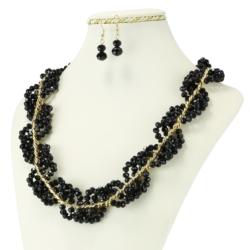 Komplet biżuterii - Naszyjnik i Kolczyki - KOM35