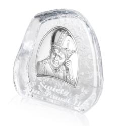 Przycisk Szklany - Jan Paweł II - 11,5x11,5cm PS13