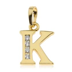 Przywieszka pozłacana Xuping - litera K - PRZ1420