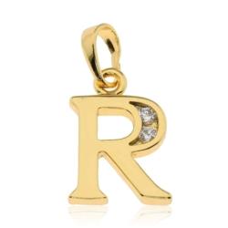 Przywieszka pozłacana Xuping - litera R - PRZ1426