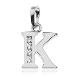 Przywieszka rodowana Xuping - litera K - PRZ1489