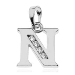 Przywieszka rodowana Xuping - litera N - PRZ1492