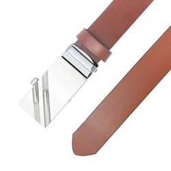 Pasek skórzany męski - Karmelowy 3x120cm - BLM129