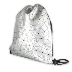 Plecak młodzieżowy - Geometric Line - Silver PL70