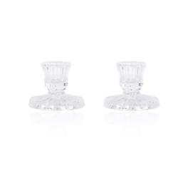 Szklane świeczniki - 2szt. - 6cm - JC47