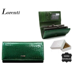 Portfel damski - 64003 RS GREEN - 17x9cm - P565