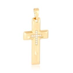 Krzyżyk pozłacany Xuping - 3,4cm - PRZ1537