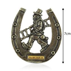 Magnes metalowy - Kominiarz podkowa - 7cm - MM65
