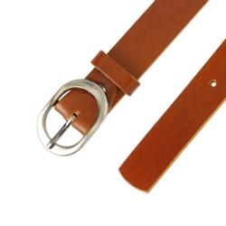 Pasek skórzany damski - Brązowy - 3x100cm - BL55