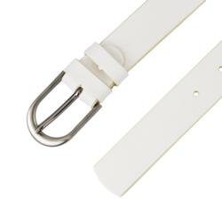 Pasek skórzany damski - Biały - 3x105cm - BL59