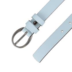 Pasek skórzany damski - Błękitny - 2,5x100cm BL61