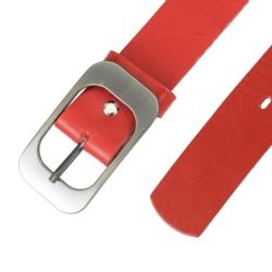 Pasek skórzany damski - Czerwony - 4x80cm BL62