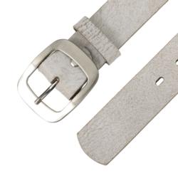 Pasek skórzany damski - Szary - 4x105cm BL73