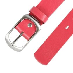 Pasek skórzany damski - Czerwony - 4x110cm BL75