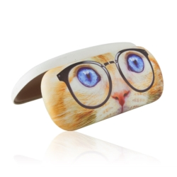 Etui na okulary - oczy kotka w okularach - EO112