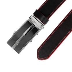 Pasek skórzany męski - Czarny 3x100cm - BLM140