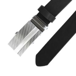 Pasek skórzany męski - Czarny 3x100cm - BLM142