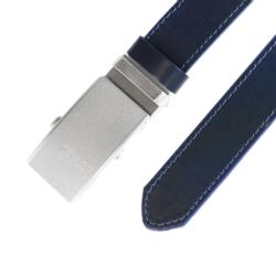 Pasek skórzany męski - Czarny 3x105cm - BLM151