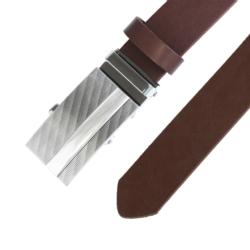 Pasek skórzany męski - Brązowy 3x110cm - BLM153