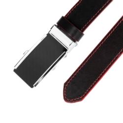 Pasek skórzany męski - Czarny 3x110cm - BLM154