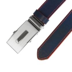 Pasek skórzany męski - Czarny 3x110cm - BLM156