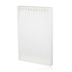 Ekspozytor biała tacka z haczykami - EKS70