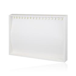 Ekspozytor biała tacka z haczykami - EKS71