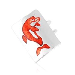 Pierścionek z regulacją - Delfin - PIER66