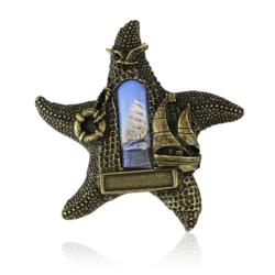 Magnes metalowy rozgwiazda - 6,5cm - MM75