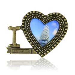 Magnes metalowy serce - 7cm - MM77