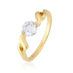 Pierścionek z pojedyńczym kryształem - PP1442