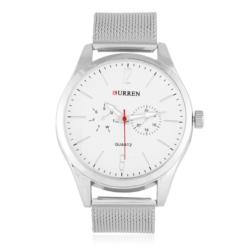 Zegarek męski na srebrnej bransolecie - Z431