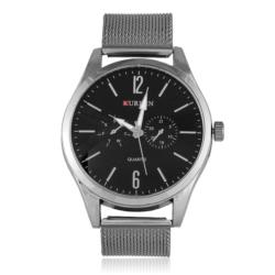 Zegarek męski na grafitowej bransolecie - Z434