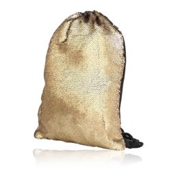 Plecak młodzieżowy worek cekinowy złoty PL81