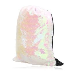 Plecak młodzieżowy worek cekinowy pudrowy PL83