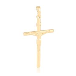 Krzyżyk pozłacany Jezus na krzyżu 5,4cm - PRZ1646