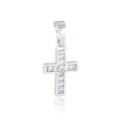 Krzyżyk rodowany - 2cm PRZ1657