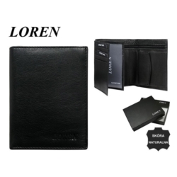 Portfel męski Loren - D1072-NGL GTN 13x10cm P587