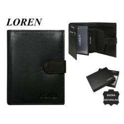 Portfel męski Loren - D1072-NGL 13x10cm P588