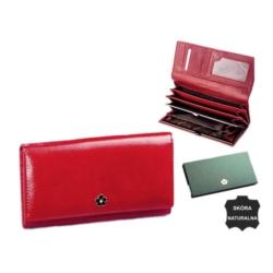 Portfel damski skórzany px24-2 mt red 19x10cm P589
