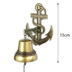 Dzwonek wiszący kotwica - 15cm - 371 - FR205