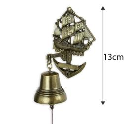 Dzwonek wiszący żaglowiec - 13cm - 372 - FR206
