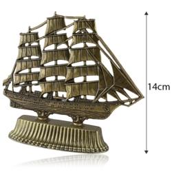 Figurka metalowa żaglowiec - 14cm - 375 - FR209